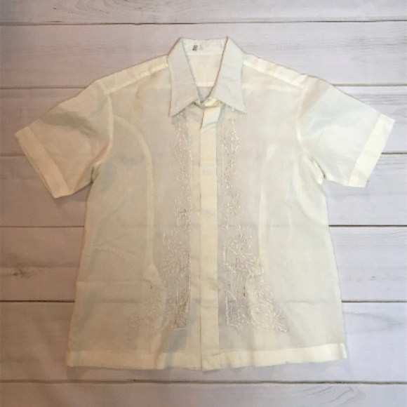 Vintage Other - Vtg Men's Mexican Wedding Shirt Short Sleeve